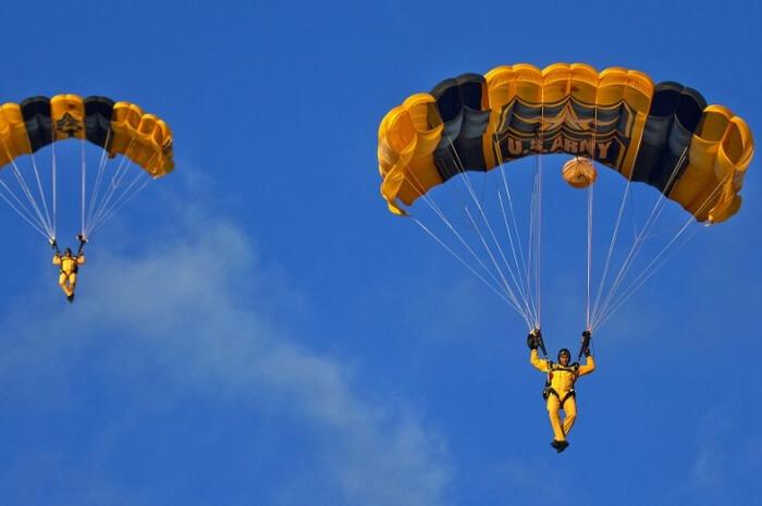 Parachuting Skydivers Parachute Team Parachute Army