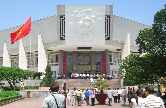 Front view of Ho Chi Minh Museum