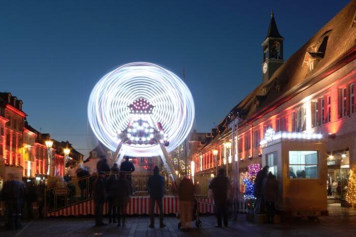 Christmas lights, in Montbéliard