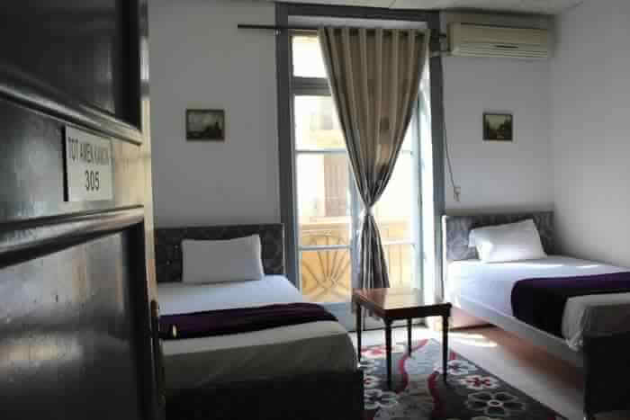 Hostel room and window