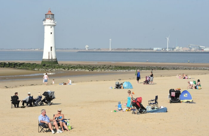 New Brighton (Wallasey) Beach in liverpool