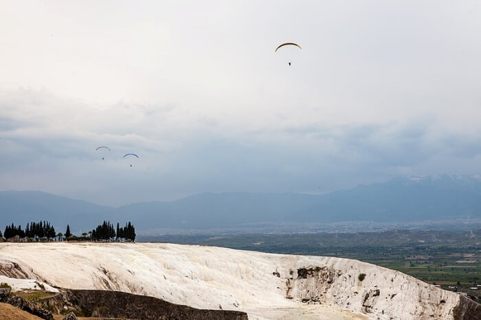 Paraglide over Pamukkale