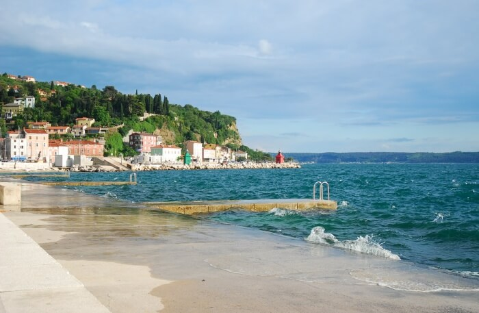 Piran Beach view