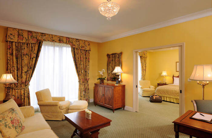 Luxury accommodation in room