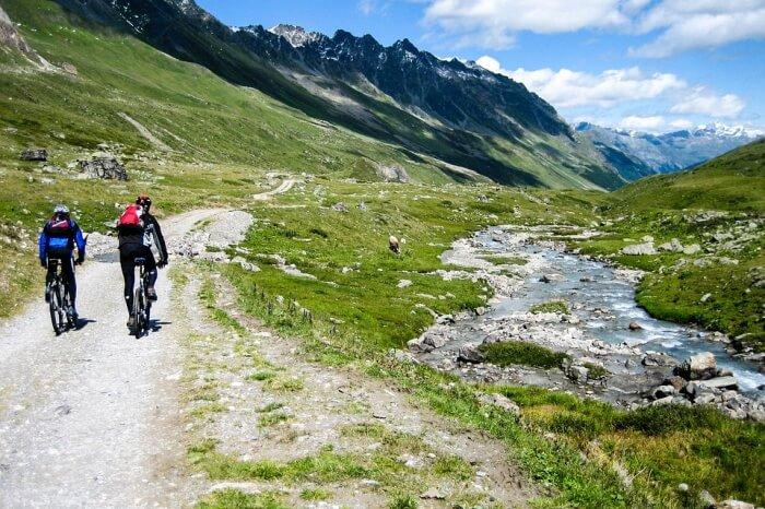 Mountain Bike Transalp Mtb Alpine Mountains