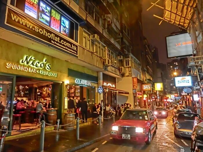 soho district in hong kong