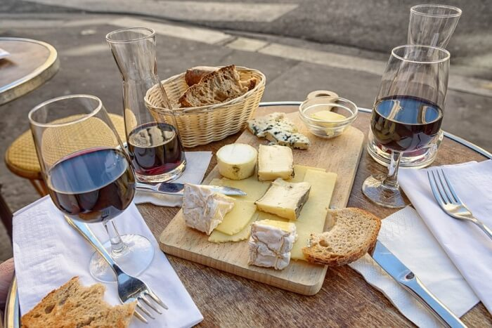 Some wine and cheese