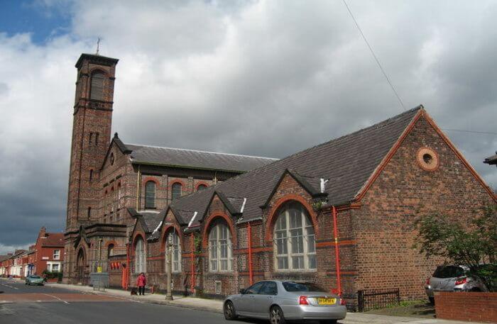 Front view of St. Bridget's Church