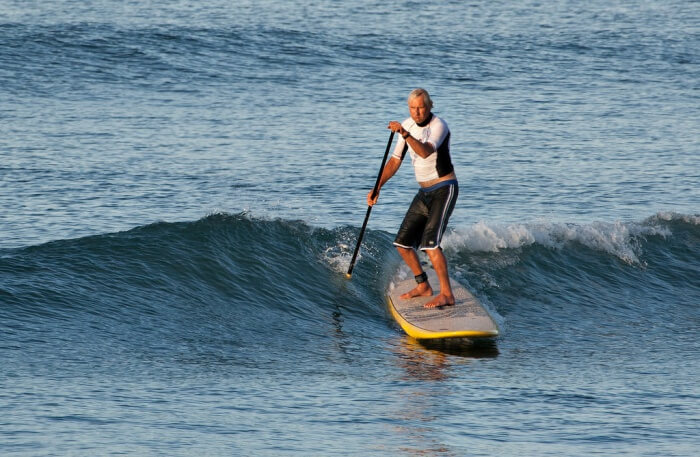Stand up Paddling in water