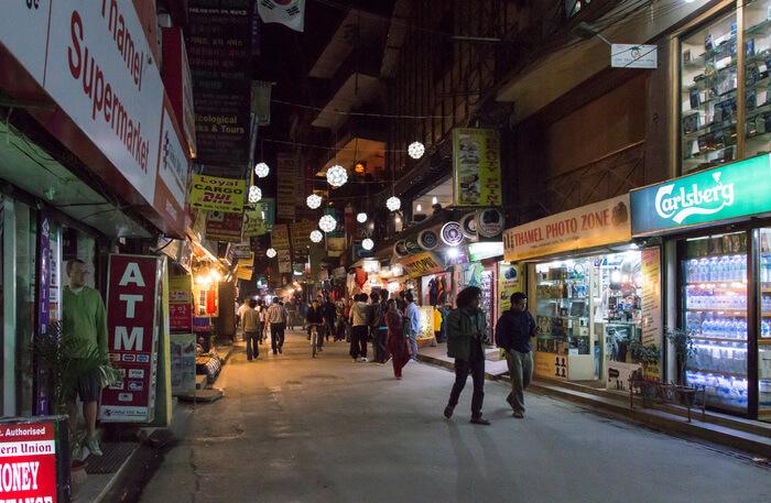 Evening lights of Thamel