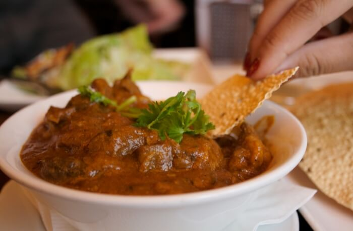 The Great India Restaurant food