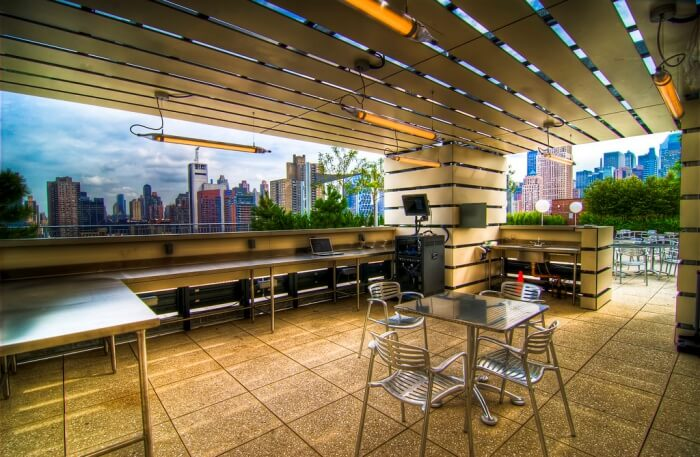 The Rooftop Terrace And Sports Lounge