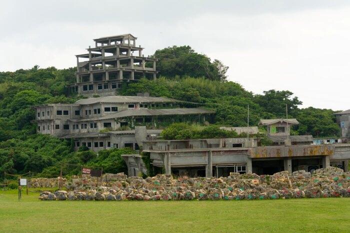 The ruins of the Nakagusuku Hotel