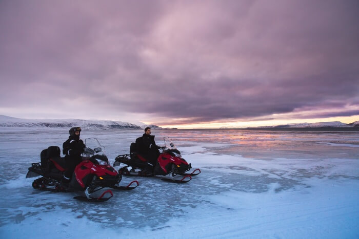 Thrill out at Arctic Circle Snowmobile Park