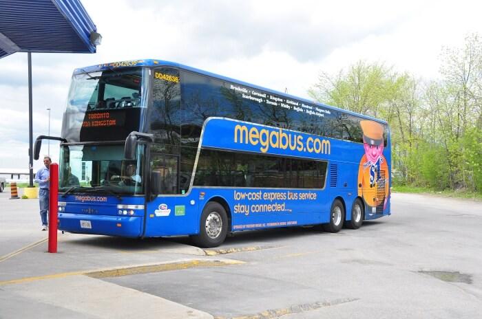 Travel on Megabus for going intercity