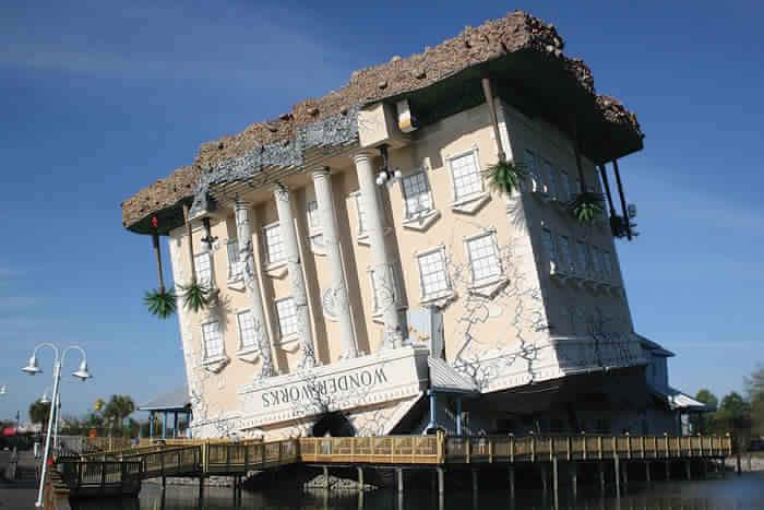 Tilted building