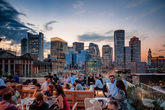 Yotel Boston's Sky Lounge