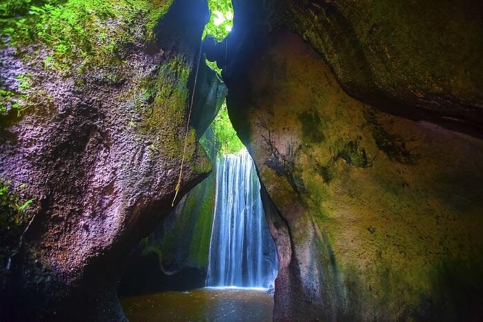 Water fall closeup view