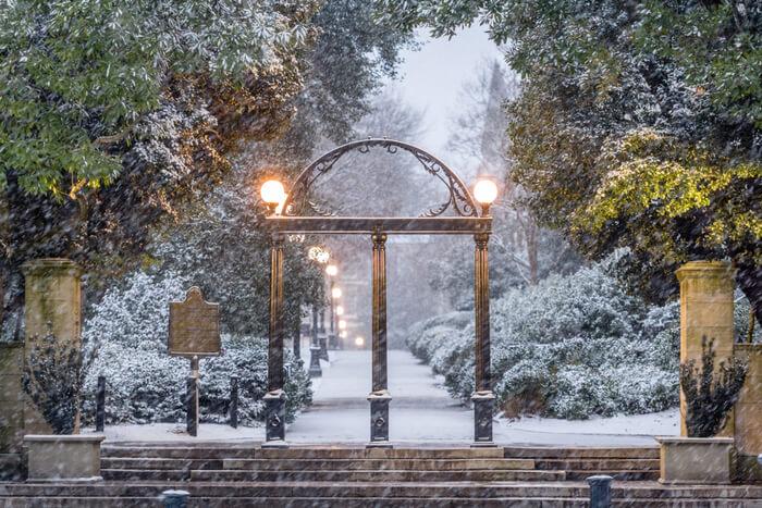 Amazing winter in georgia
