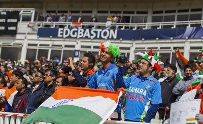 fans cheering in the stadium