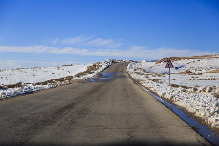 winter in jordan