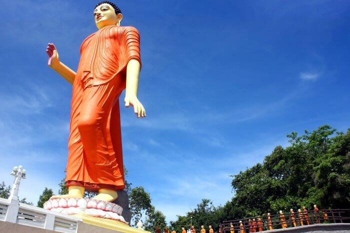 Magnificent Statue Of Walking Buddha