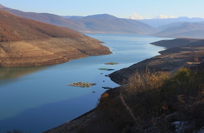 Bilecko Lake in Montenegro