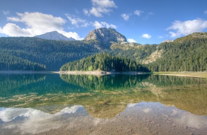 Black lake in Montenegro