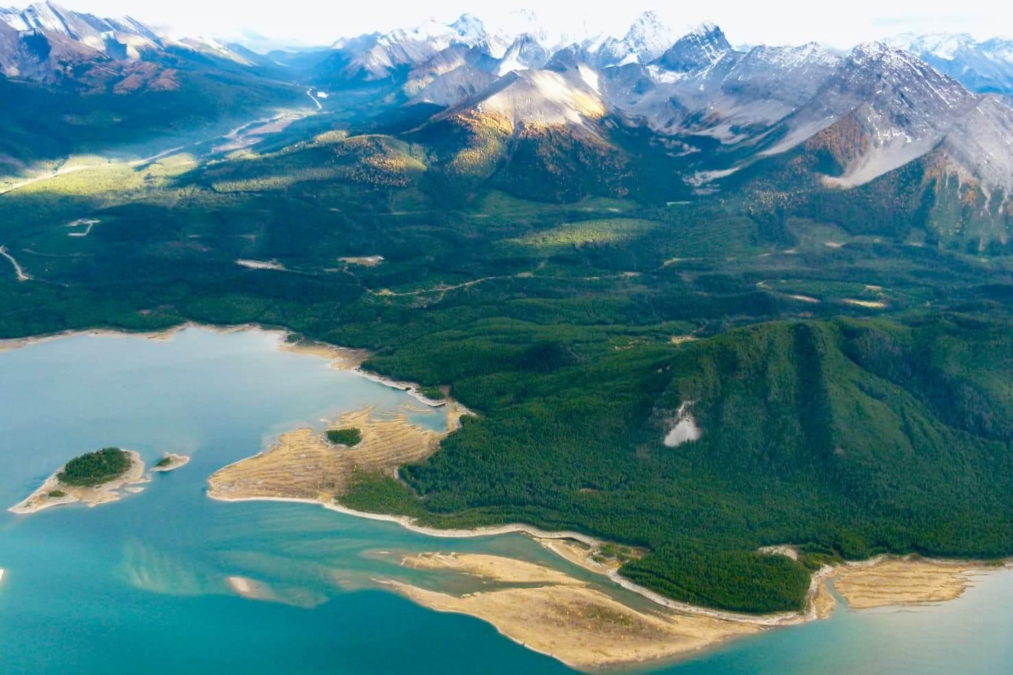 a gorgeous blue lake