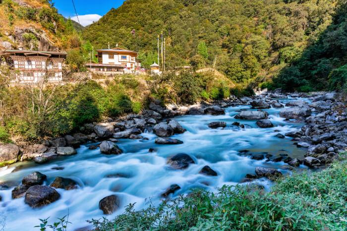 Phobjikha Valley scenic view