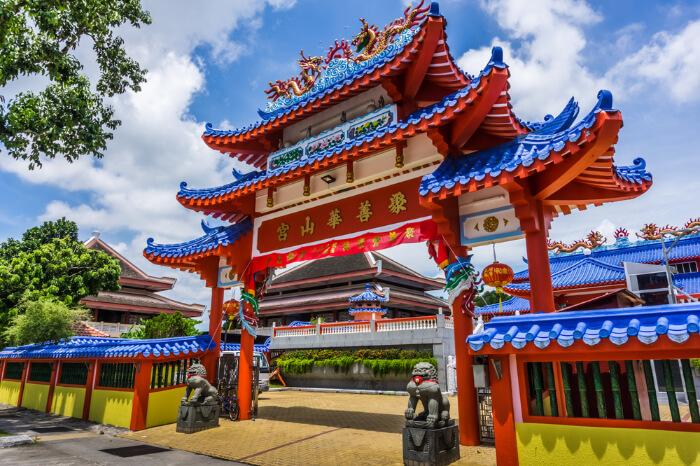 A Buddhist temple in Yishun, Singapore