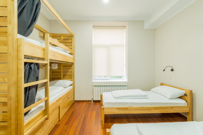 A hostel room in Slovakia