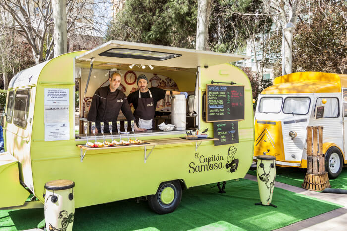 A food truck in Madrid