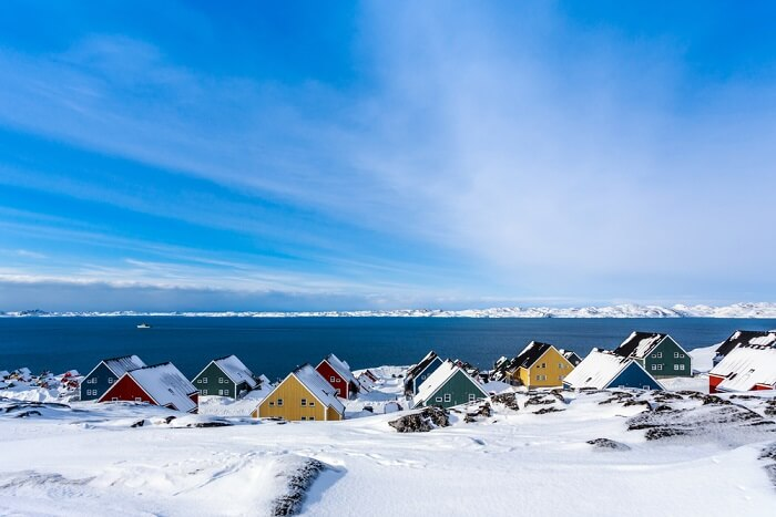 nuuk city view in greenland