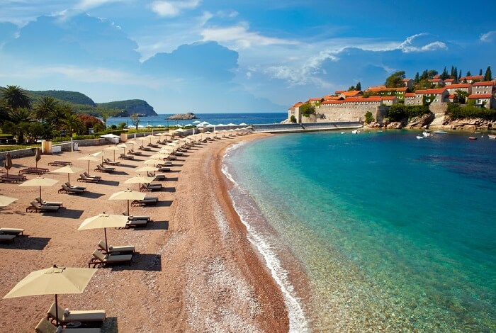 view of a gorgeous montnegro beach