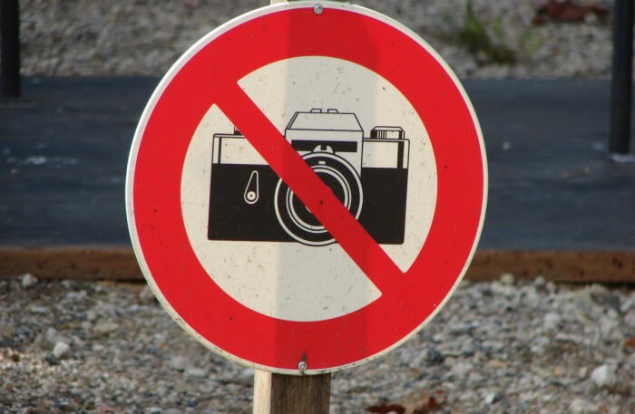 Do not take photographs without permission