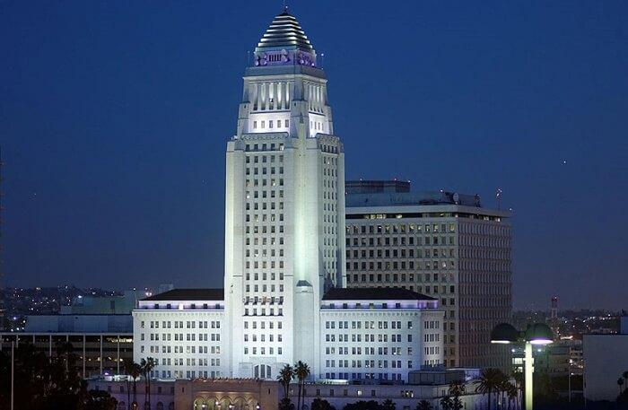 Downtown L.A view