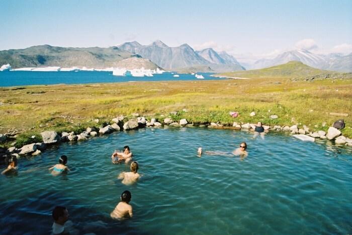 Enjoy the hot springs