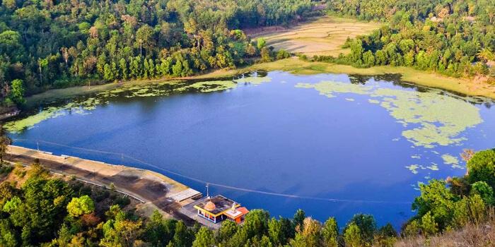 Honnamana Kere Lake in Coorg