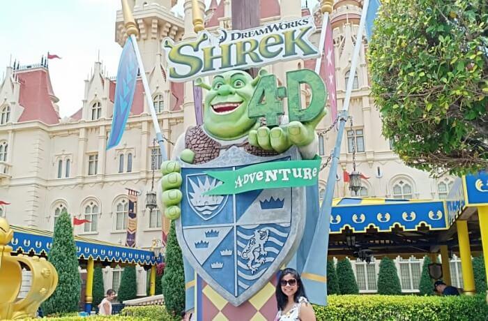 We at the Shrek's Castle