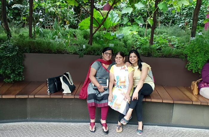 hang out with family