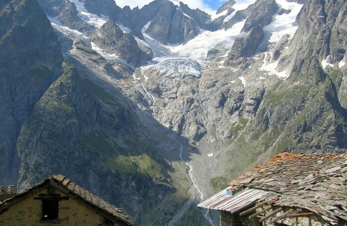 Mountain closeup view