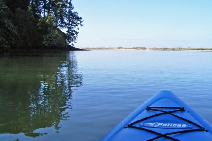 Kayaking along the Blue River