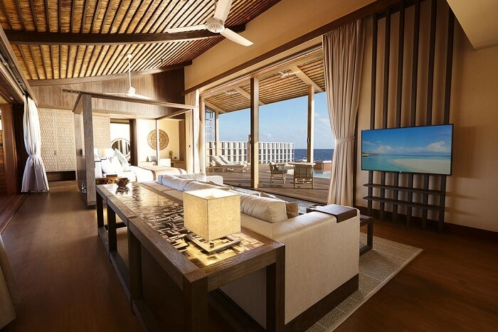 Room view of the island resort