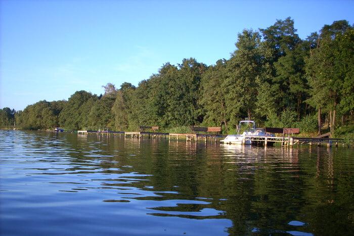 Lake Gosławskie in Poland