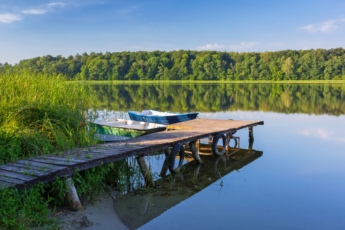 Lake Karas in Poland