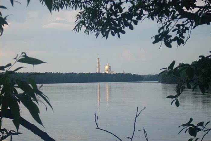 Lake Licheńskie in Poland