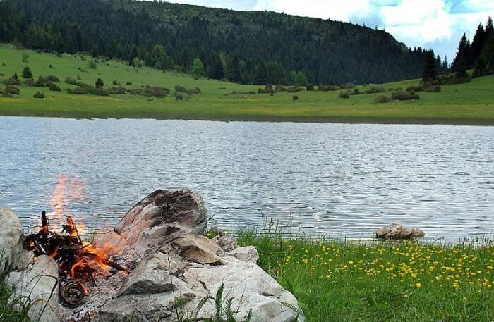 Lake Rujiste in Montenegro