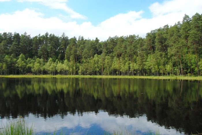 Lake Słupca in Poland