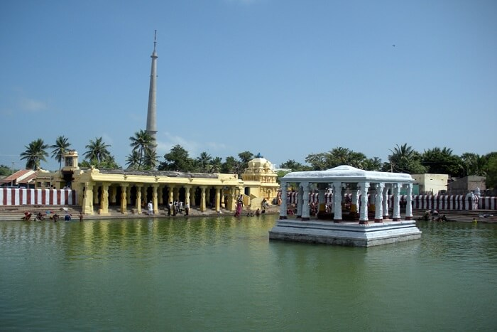famous sacred pond near Lakshamana temple
